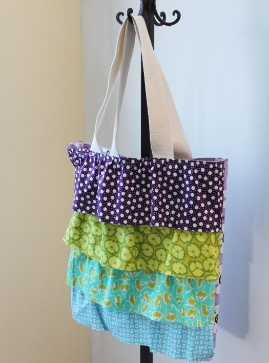 Amp up an easy bag patterns with cute ruffles! We promise, it's easier than you think!