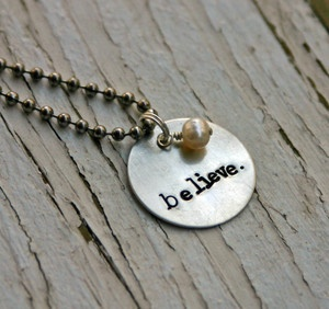 believe.Girls, Necklaces 28, Rust Chains, Christian Jewelry, Products, Hands Stamps Necklaces, Handmade Jewelry