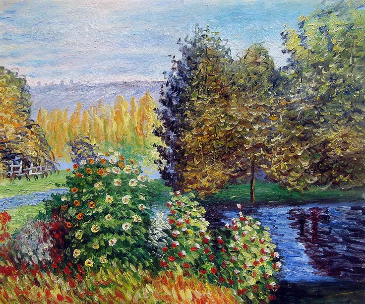 Corner Of The Garden At Montgeron by Claude Monet.  One of overstockArt's most popular paintings for 2014. Hand painted reproductions are available in a variety of sizes at overstockArt.com. #art