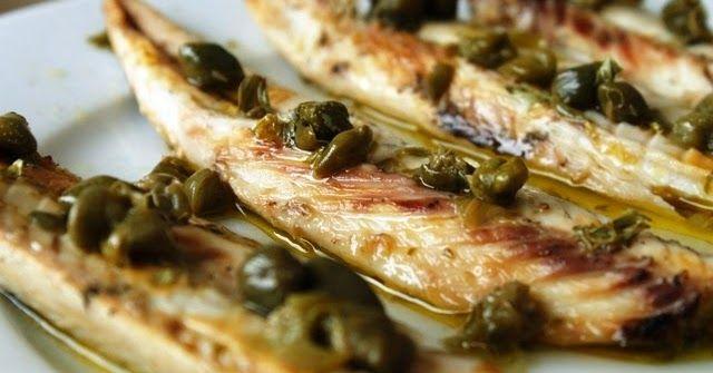 makreel, kappertjes, oregano