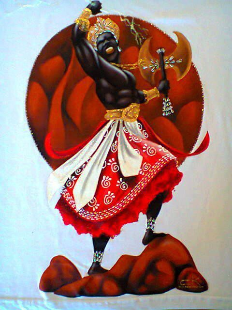 divinemoon:  Shangois an Osha of the Heads Oshas group. Shango...
