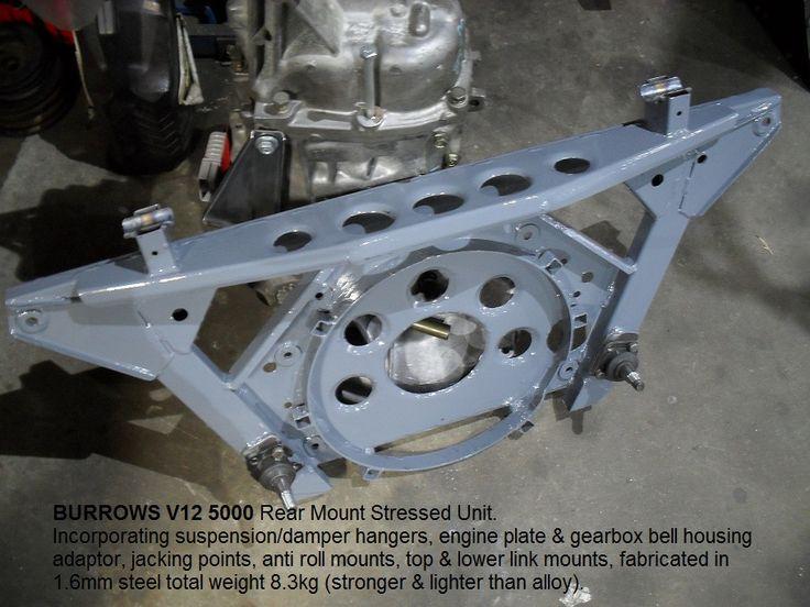 BURROWS JAGUAR V12 5000 rear stressed member unit.