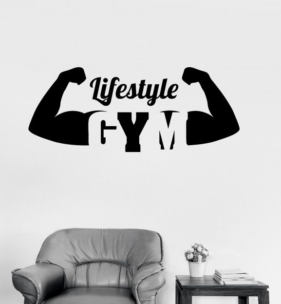 vinyl decal gym healthy lifestyle motivation sport fitness