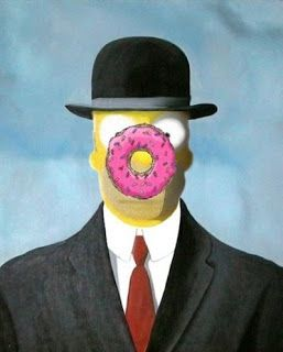"son of man magritte | Simpson as Magritte's ""Homer Simpson as Magritte's The Son of Man ..."