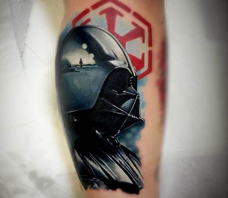 Darth Vader tattoo by Kris Busching
