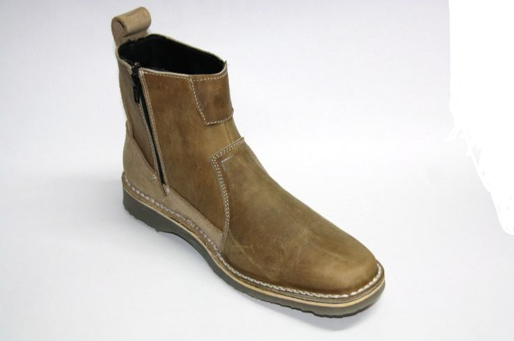 A modern, comfortable zip up boot made in geniune leather