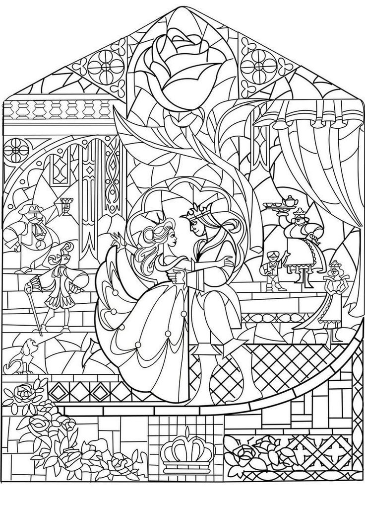 free coloring page coloring adult prince princess art nouveau style - Coloring Pages For Free