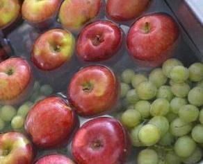 fruit wassen met azijn pesticiden verwijderen