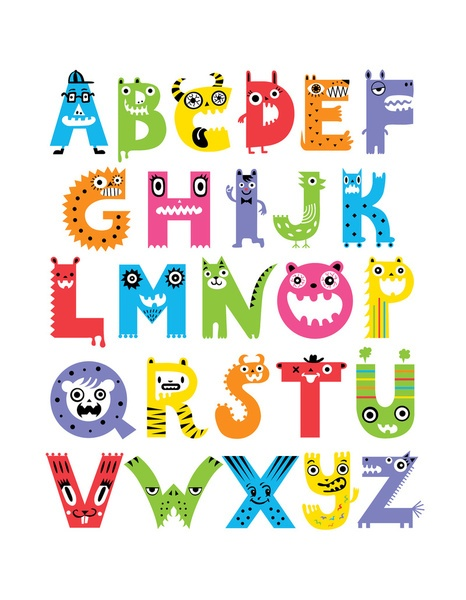 Alphabet Monsters Art Print