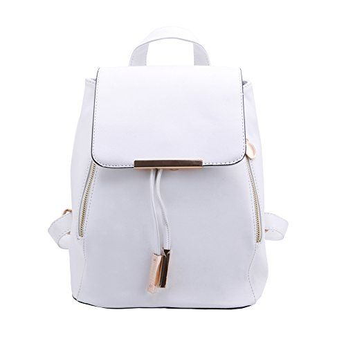 """New Trending Backpacks: Shoulders Bag Magicub Backpack Faux Leather College Style Handbag Casual Bags (Cream White). Shoulders Bag Magicub Backpack Faux Leather College Style Handbag Casual Bags (Cream White)  Special Offer: $17.52  300 Reviews Features: ●It made up of PU leather. ●Size: app. 28 x 23 x 16cm / 11.02 x 9.06 x 6.30"""" ●It is multi-functional bag,you can use it as Backpack /..."""