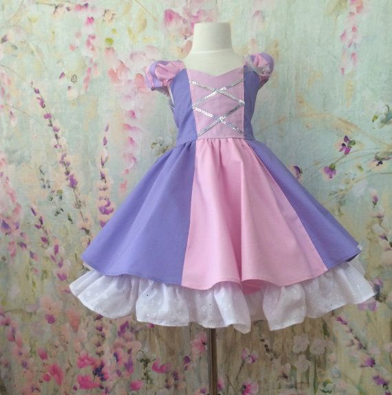Rapunzel enredados vestido princesa de las niñas
