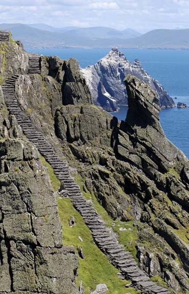 The Skelligs, Ring of Kerry Ireland. Be warned: these spectacular pinnacles of rock soaring out of the sea will haunt you for days.