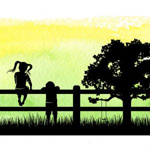 Watercolour Silhouettes