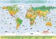 Verdenskart for barn. 200 illustrasjoner av verdens dyr.