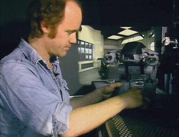 Phil Tippet working on Robocop.