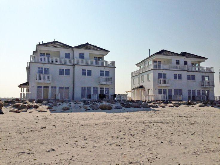 Blick auf die Strandvillen