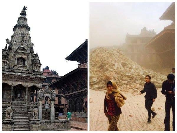 Templo de Vatsala Durga en Nepal ; Siglo XVII -Demolido por el terremoto de 2014 que azotó a este país -
