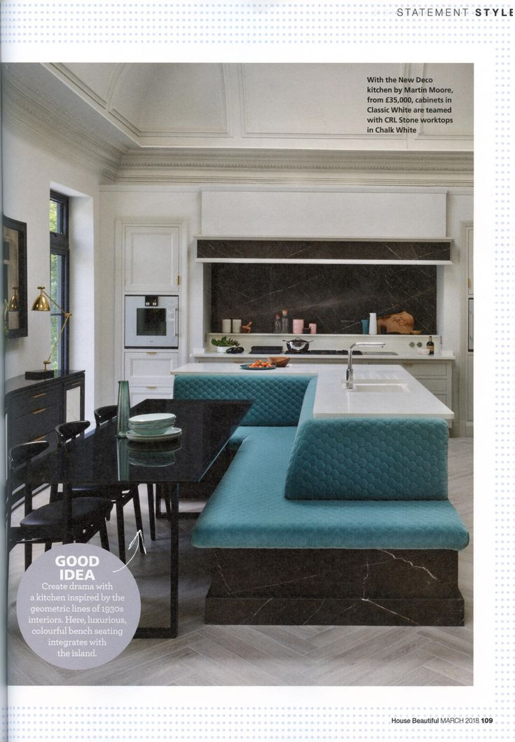 The New Deco kitchen by Martin Moore. www.martinmoore.com House Beautiful March 2018