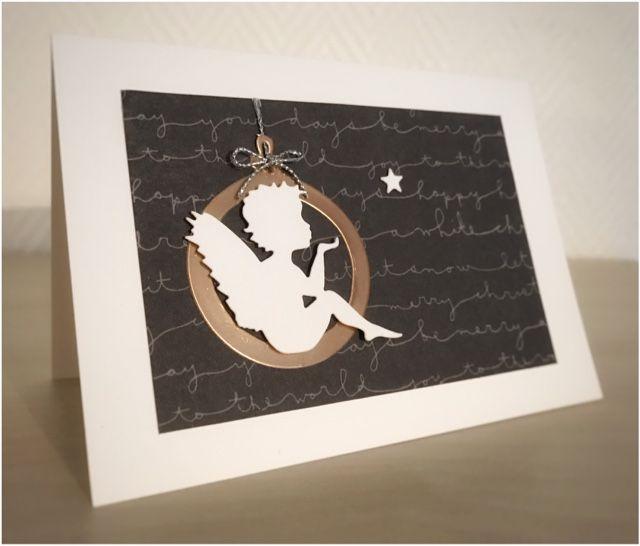 Card Creations by Ellis van Veenendaal: Weihnachtskarten in weiß/schwarz/kupfer...