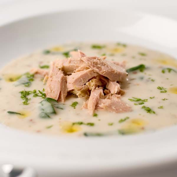 Tonnino garlic tuna and spinach soup | Yum Yum Yum Recipes | Pinterest