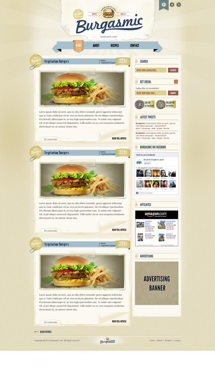 Burgasmic web design by DecoGr@f!x