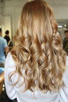 Wear loose, long curls to really take your Christmas party look to the next level