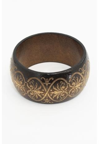 ETCHED WIDE WOOD BANGLE  Well if this isn't me I don't know what is.