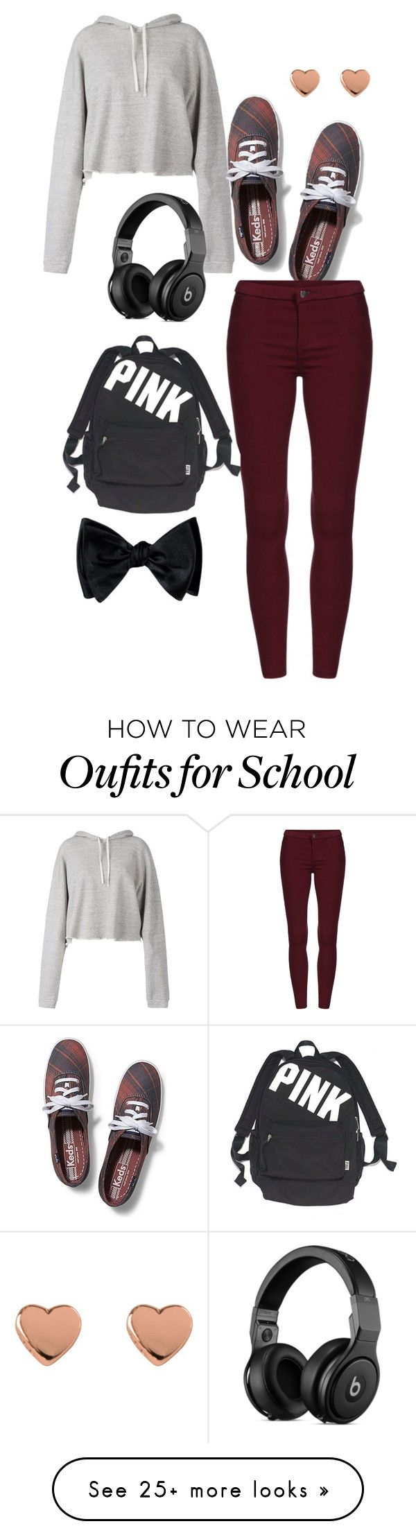 //already done with school// by x-yousaf-x on Polyvore featuring Faith Connexion, Keds, Ted Baker and Victorias Secret