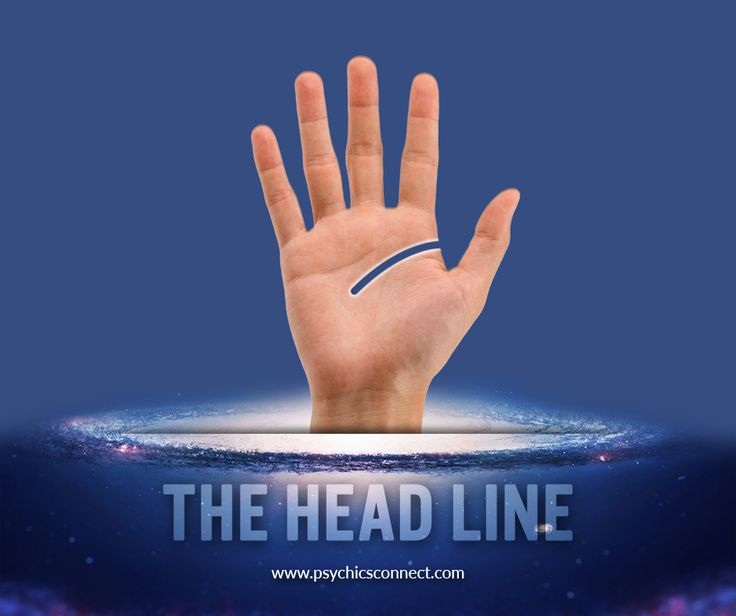 The head line, also known as the wisdom line, reveals mental and psychological makeup and intellectual development and intuitive abilities.   #palmistry #psychic