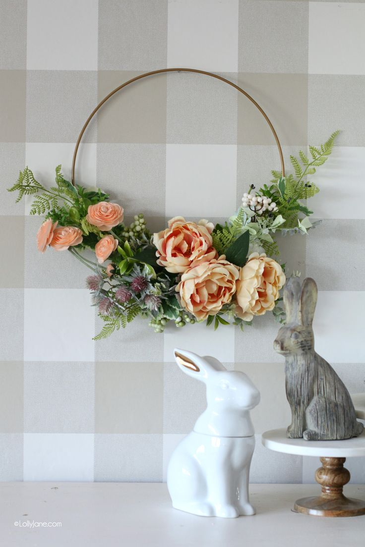 Cheap Spring Decorations: Diy Spring Wreath, Floral