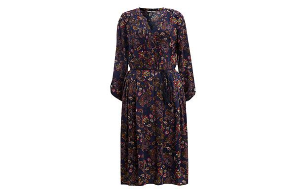 "Paisley Print Dress. ""Paisley prints are everywhere this season - we love it against the clean silhouette of this flattering dress."""