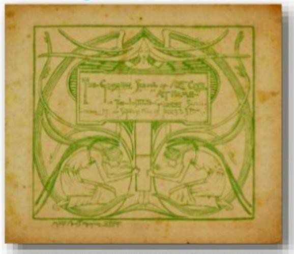 Titulo: Carta De Invitacion para Glasgow school of art club  Año:25 de noviembre 1893 Autor: Margaret MacDonald