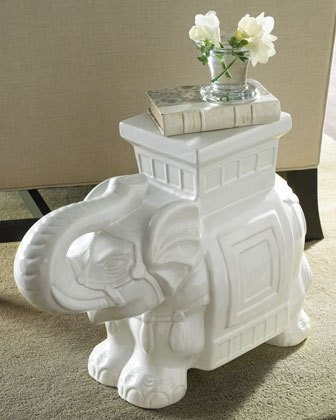 Ceramic Elephant Stool At Neiman Marcus, $199