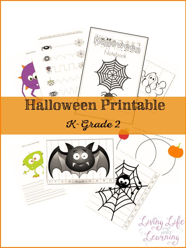 9 pages of Halloween printables for your K to grade 2 student