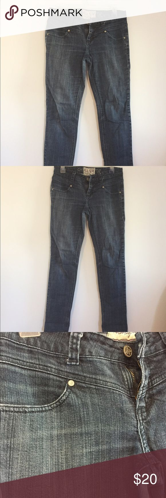 American Rag Skinny Jeans Low-rise skinny jeans by American Rag. Worn for years but they're too big for me now; denim is still in great shape and I'd love to find them a new home! American Rag Jeans Skinny