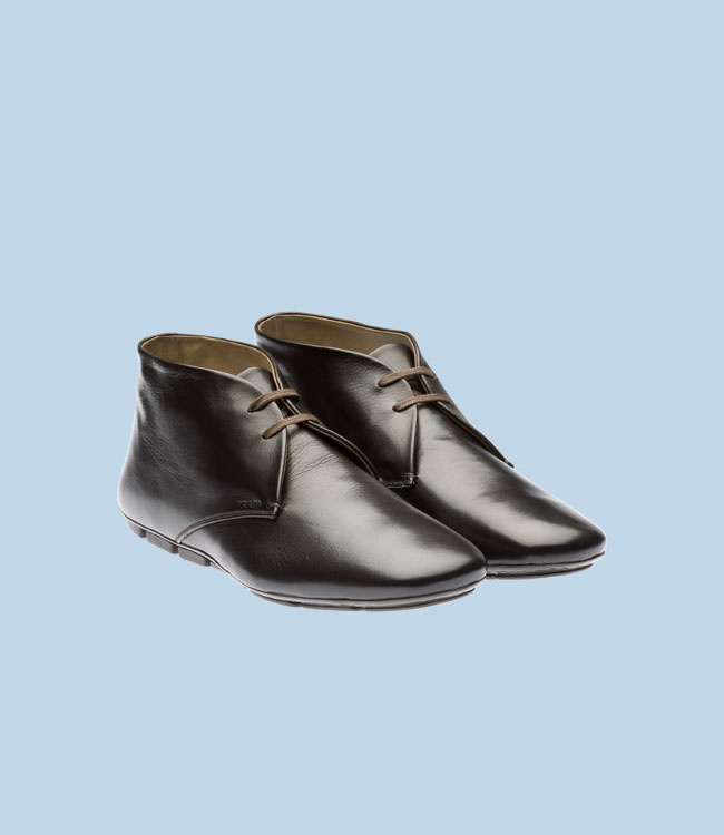 soft calf leather laced driving shoe