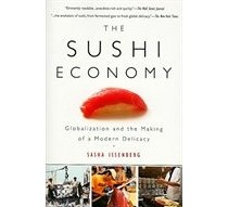 """Where'd it come from?  How'd it get so popular?  """"A riveting combination of culinary biography, behind-the-scenes restaurant detail, and a unique exploration of globalization's dynamics, the book traces sushi's journey from Japanese street snack to global delicacy."""""""