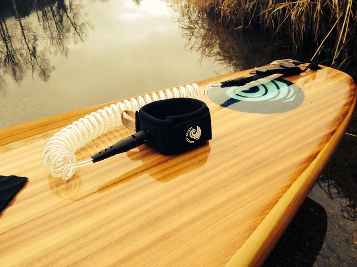 Sup leash coiled  Knotty boards