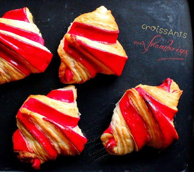 Il était une fois la pâtisserie...: Croissants bicolores à la framboise