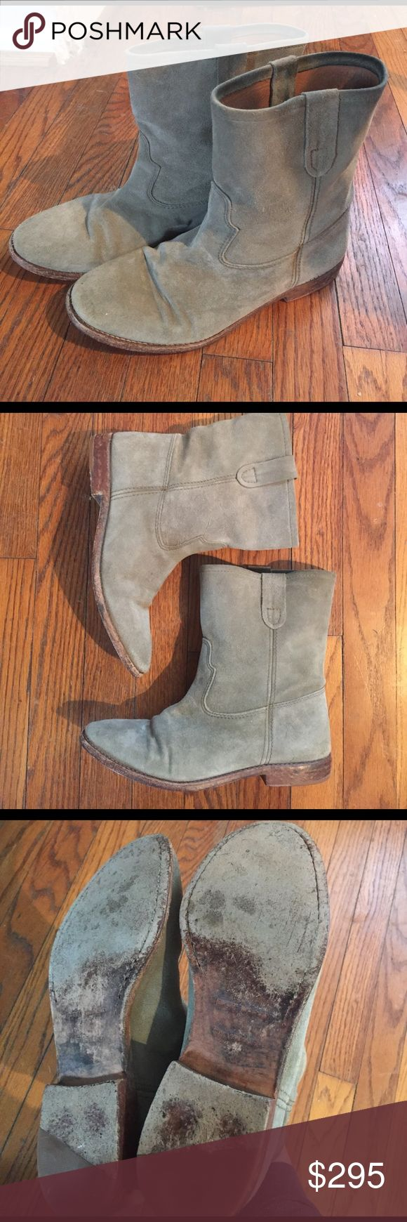 Isabel marant boots! Suede boots, sooo cute with skinny jeans or dresses! A great neutral color that goes with everything. There is some wear to the soles and suede could use a clean up but they have tons of life left in them. Priced accordingly. Size 38 Isabel Marant Shoes Ankle Boots & Booties