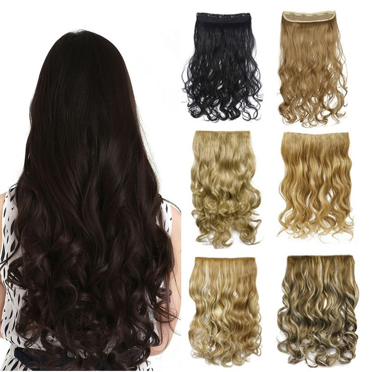 50 Colors!!! Long Curly Clip in Hair Extensions  Wavy Hairpieces 50cm 20Inch High Temperature Fiber Synthetic Hair Extension 888