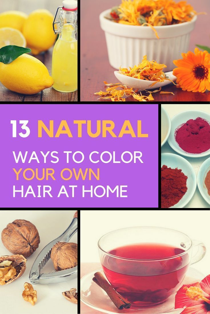 Natural Hair Dye: 13 Ways to Color Your Hair at Home ...