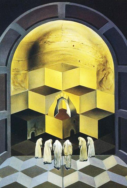 Salvador Dalí - Skull of Zurbarán, 1956