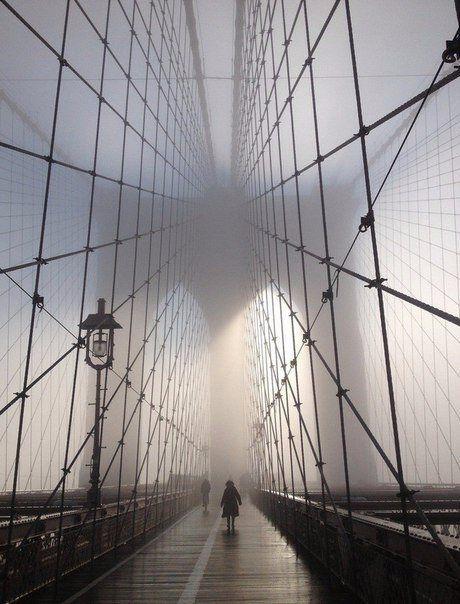 Бруклинский мост утром