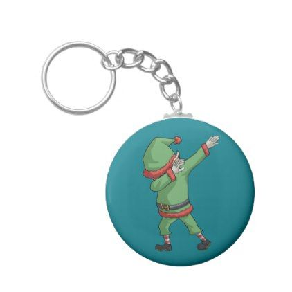 Dab Santa Elf Funny Novelty Christmas Gift Items Keychain - holidays diy custom design cyo holiday family
