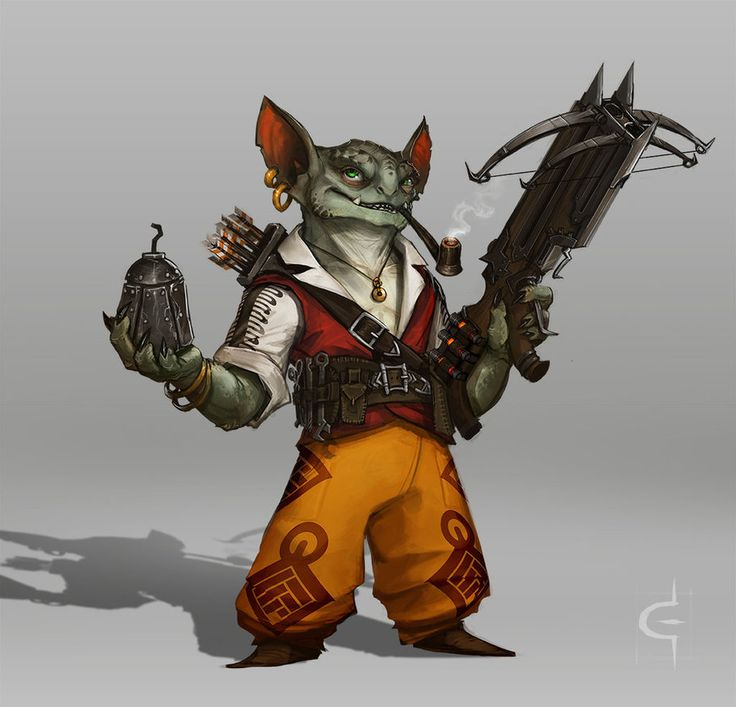 Goblins aren't really known for their subtlety. Seeing as the rogue's primary armament has been modified with an underslung launcher for those vials of alchemist's fire and he likes to open engagem...