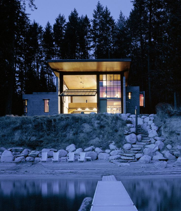 Modern Lake House Architecture: 25+ Best Ideas About Modern Cabins On Pinterest
