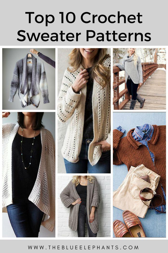 Top 10 Crochet Sweater Patterns