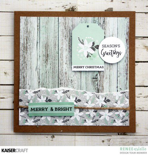 'Merry and Bright' Christmas Card Inspiration by Renee Aslette Design Team member for Kaisercraft Official Blog. Featuring their October 2017 'Christmas Wishes' collection. Learn more at kaisercraft.com.au - Wendy Schultz - Kaisercraft Projects.