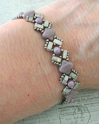 Linda's Crafty Inspirations: Bracelet of the Day: Lucy Bracelet - Pale Lilac & Silver
